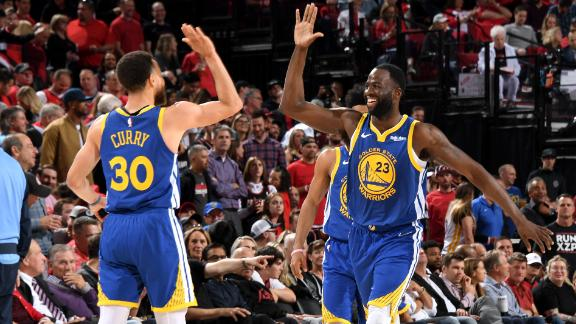 Warriors sweep Blazers, secure 5th straight trip to Finals
