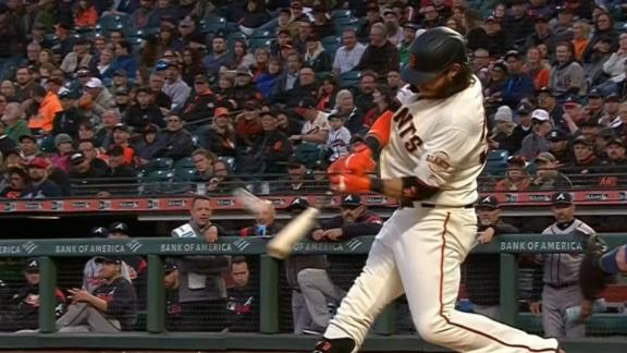 Crawford hits solo HR for Giants' lone run in loss vs. Braves