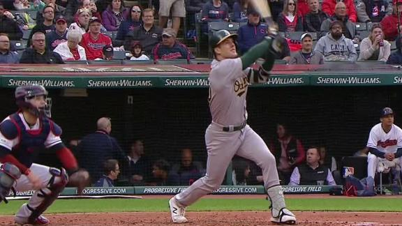 Canha belts 2-run homer