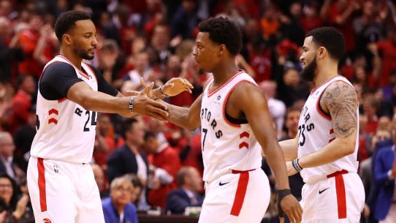 Raptors even series with statement win over Bucks