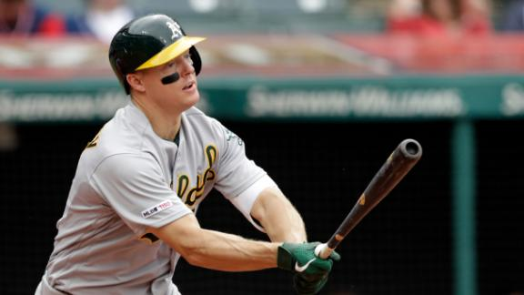 Hundley, Canha go deep in Athletics' win over Indians