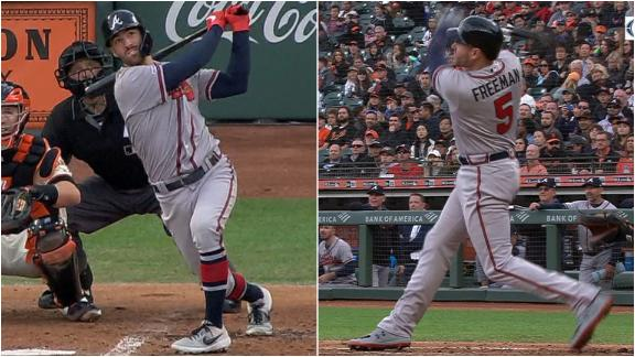 Swanson, Freeman hit back-to-back homers