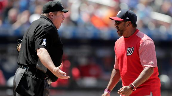 Martinez kicks dirt, throws cap after ejection