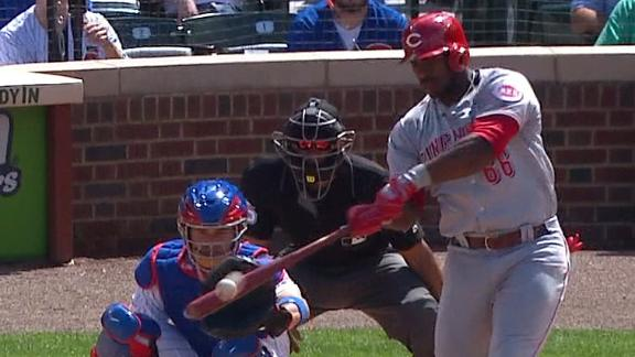 Puig blasts a solo shot out of Wrigley