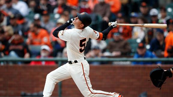 Mike Yastrzemski gets first-career hit