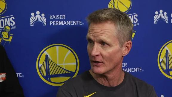 Kerr: KD not playing, Cousins questionable for Game 1