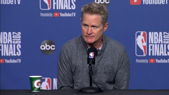 Kerr: Durant will be out for Game 2