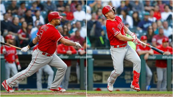 Trout, Pujols long balls help Angels past Mariners