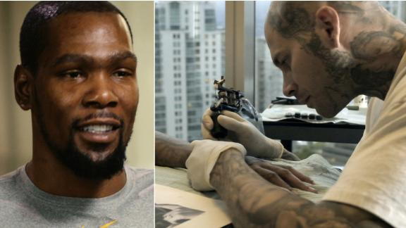 The tattoo artist behind the ink for Durant, Lillard and others