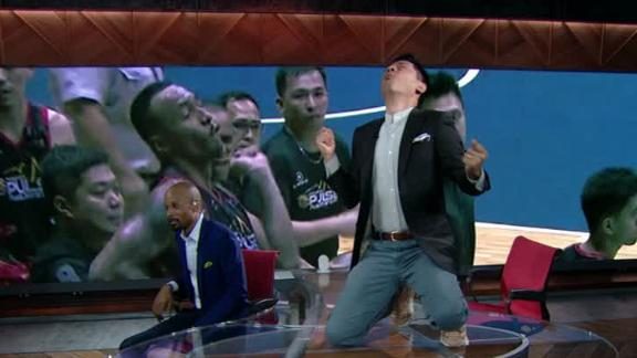 Pablo Torre animated watching back Philippine basketball brawl