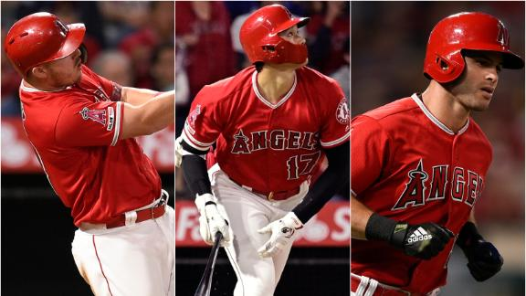Trout, Ohtani, La Stella hit back-to-back-to-back HRs