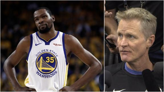 Kerr confident Durant will be a threat if he plays