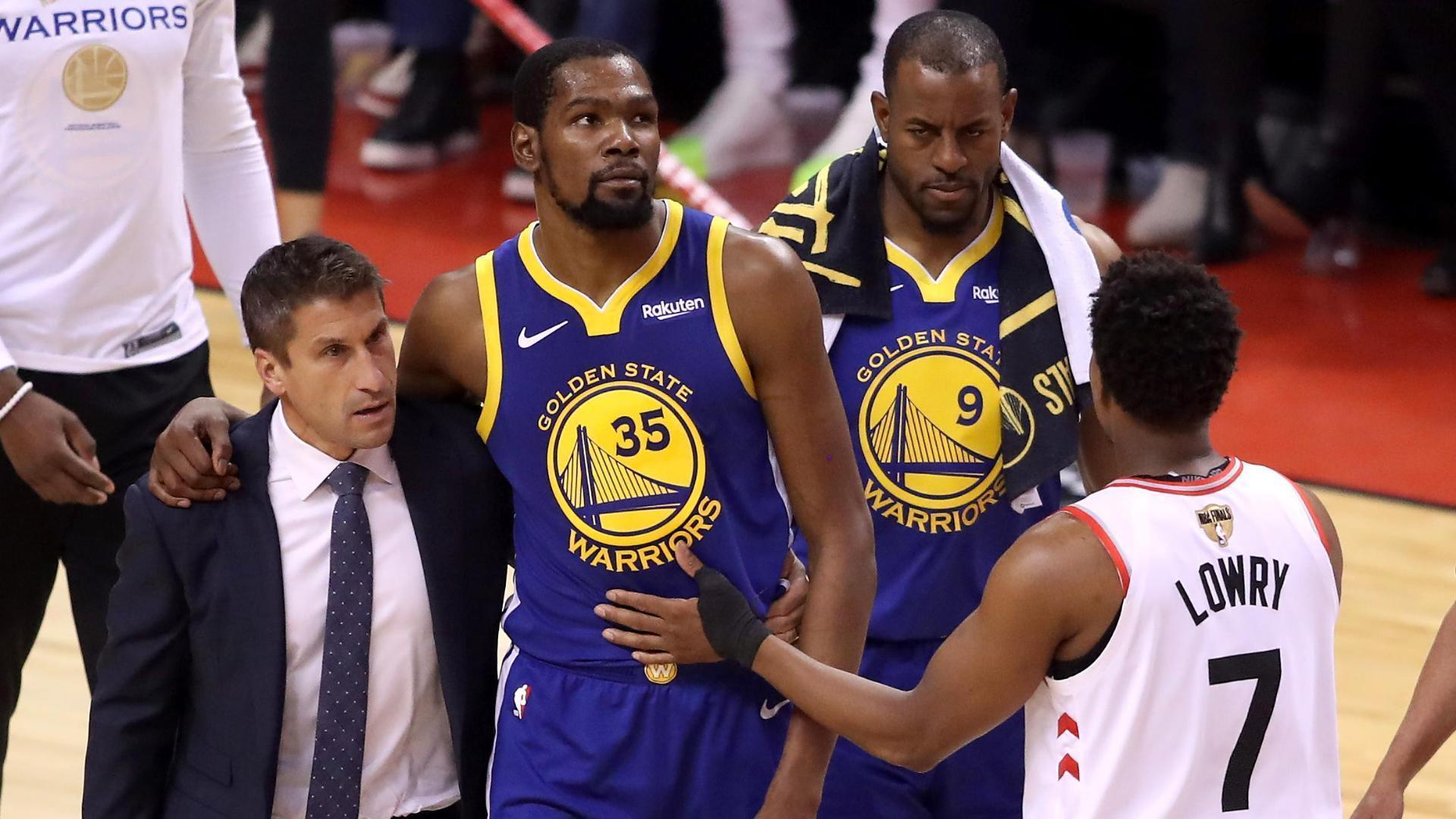 Warriors inspired in Game 5 by Durant injury