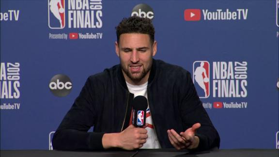 Klay gets fired up talking about KD's impact on the Warriors