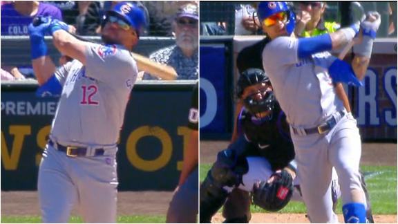 Schwarber and Baez go yard in Cubs' rout