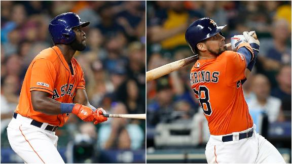 Astros belt 4 homers to rout of Jays