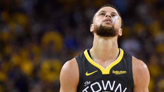 Raptors, Warriors react to Curry's missed shot
