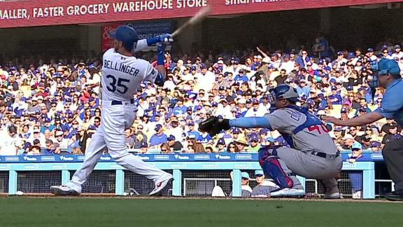 Bellinger hits HR in front of parents on Father's Day