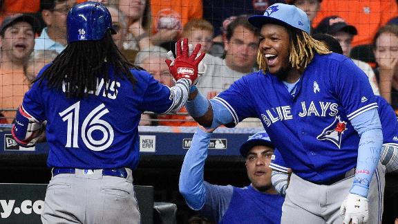 Blue Jays go yard five times in rout of Astros