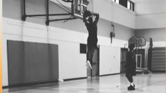 Westbrook throws down alley-oops from his dad