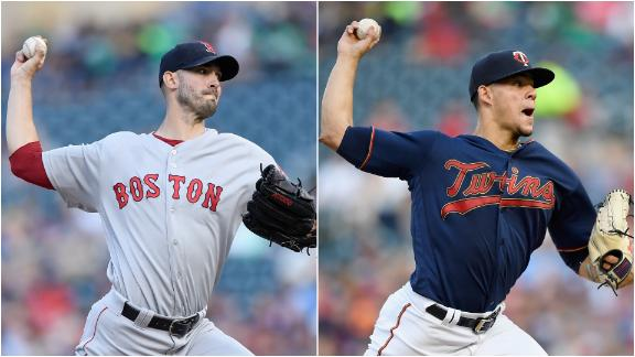 Porcello, Berrios combine for 18 Ks