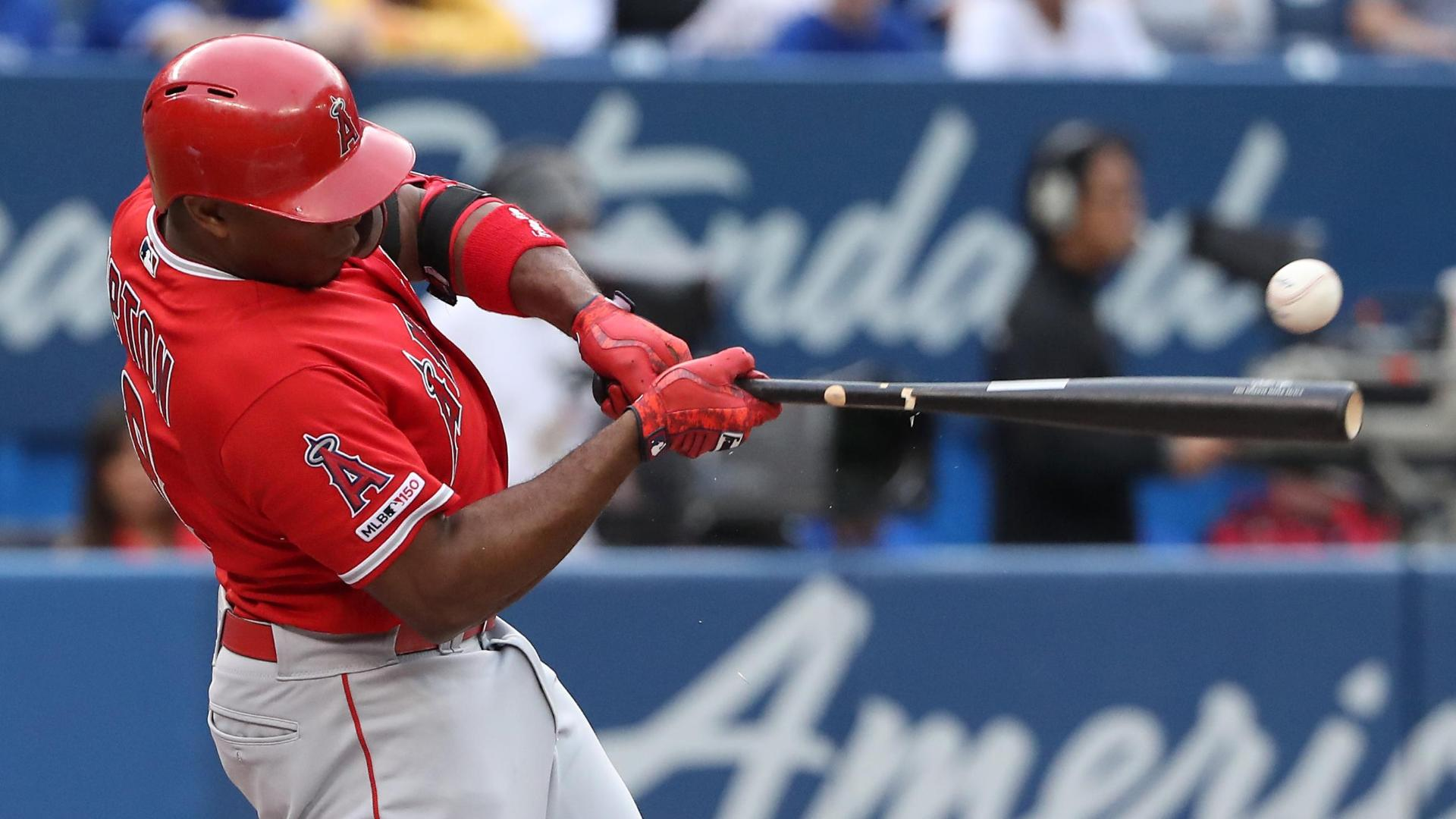 Upton homers in Angels' 7-run inning