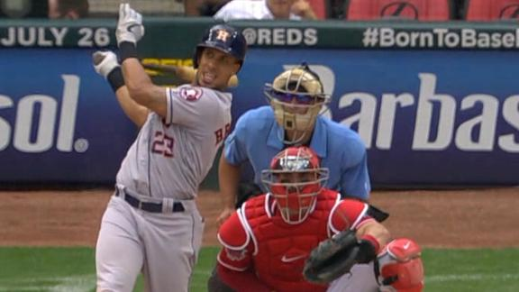 Brantley's 2-run blast gives Astros the lead