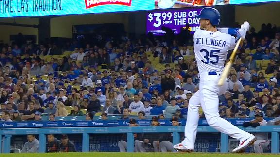 Bellinger goes the other way for solo homer
