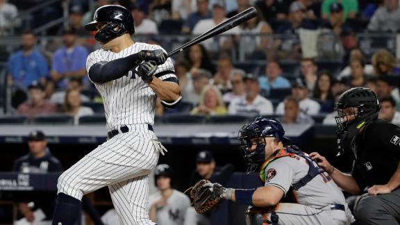 Stanton records first 4 RBI's of the season