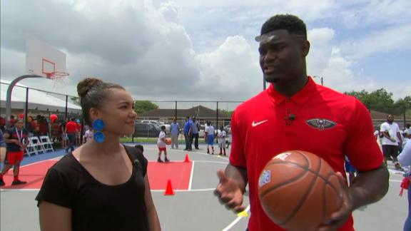 Zion: It was surreal seeing my name on an NBA jersey