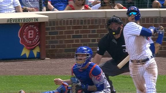 Baez's 100th career homer puts Cubs in front