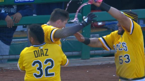 Pirates rally twice, win on walk-off walk