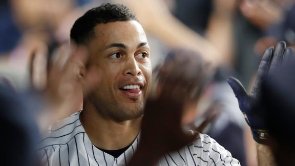 Stanton launches first homer of season 445 feet