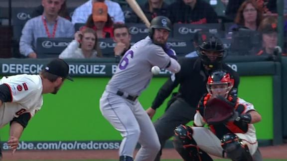 Dahl hits opposite-field homer to put Rockies up