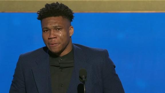 Giannis thanks family for MVP win