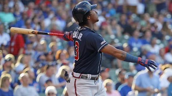 Acuna crushes lead-off HR