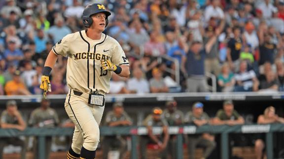 Michigan takes Game 1 of CWS Final