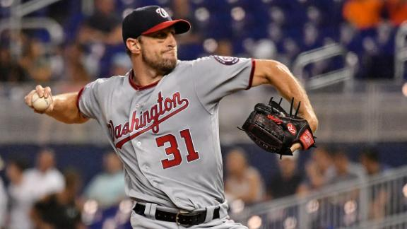 Scherzer fans 10-plus for 7th time this season