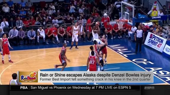 RoS escapes Alaska despite Bowles injury - ESPN Video - ESPN