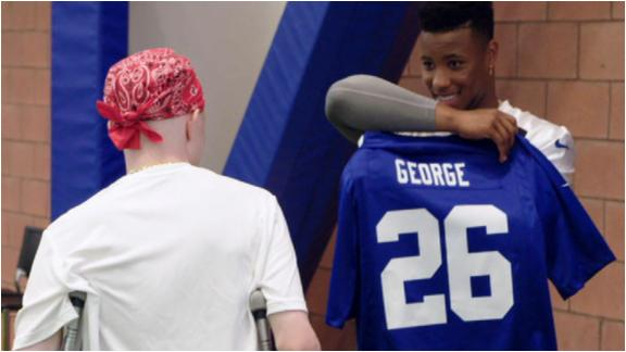 Saquon Barkley grants 15-year-old Giants fan's 'My Wish'