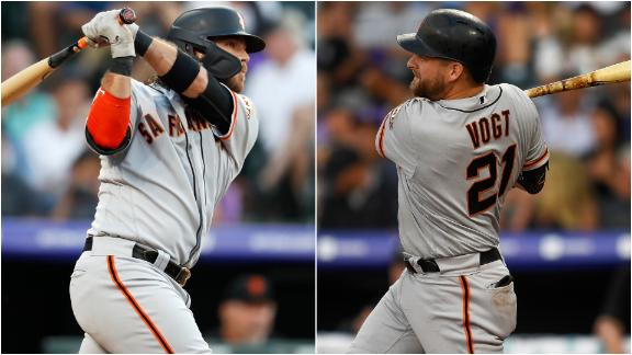Giants hit back-to-back homers in win vs. Rockies