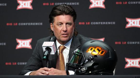 Gundy jokes about cutting his mullet