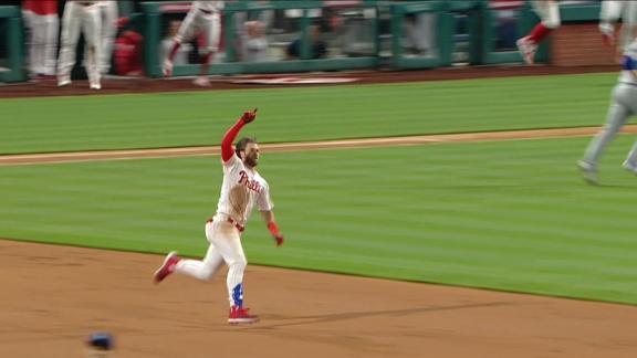 Harper hits 458-foot HR, walk-off double in Phillies' win