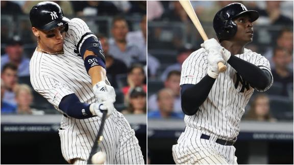 Judge, Gregorius ignite the Bronx with 8th-inning homers