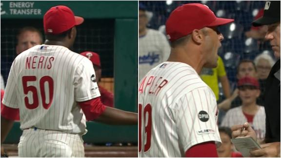 Neris, Kapler tossed in 9th