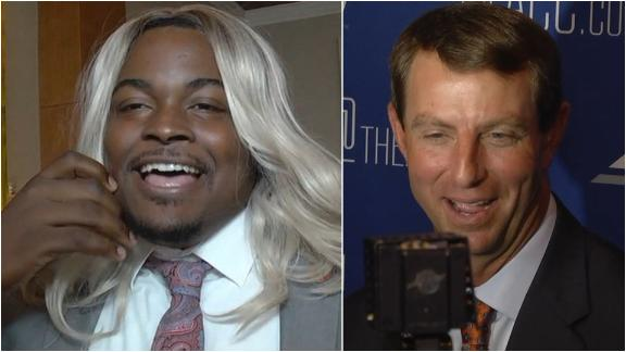 Dabo: Lawrence's stunt double nailed it at media day