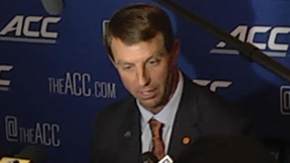 Swinney: Other ACC programs don't get enough credit