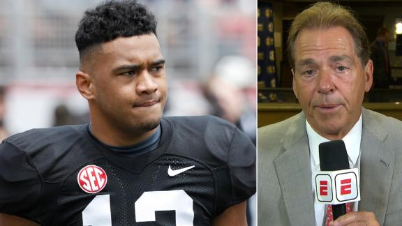 Saban wants Tagovailoa to have more patience