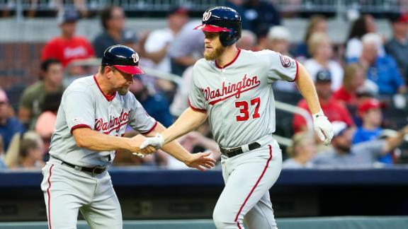 Strasburg's bat leads Nats in blowout win vs. Braves