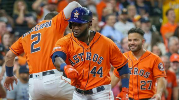 Astros hit back-to-back-to-back homers in 3rd